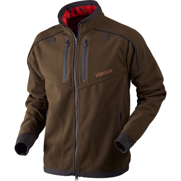 6171b145 Lynx Reversible fleece jacket Willow green/AXIS MSP® Red Blaze  Huntingfleece | Härkila